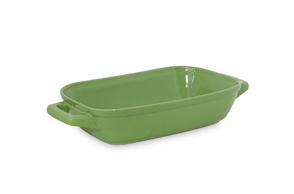 Assadeira com alça - 28 x 18cm - Verde - MondoCeram Gourmet