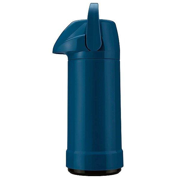 Garrafa Térmica GLT Pressão 1,0L Azul Petróleo - Invicta