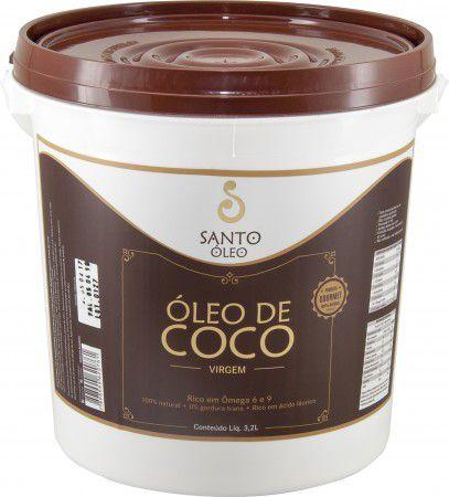 Óleo de Coco  Virgem - SANTO ÓLEO -  Balde 3,2 litros