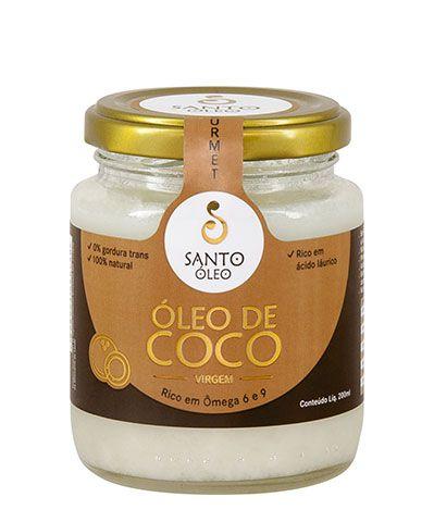 4 unidades de ÓLEO DE COCO SANTO OLEO -  VIRGEM  500ml + BRINDE (200 g SAL ROSA FINO)