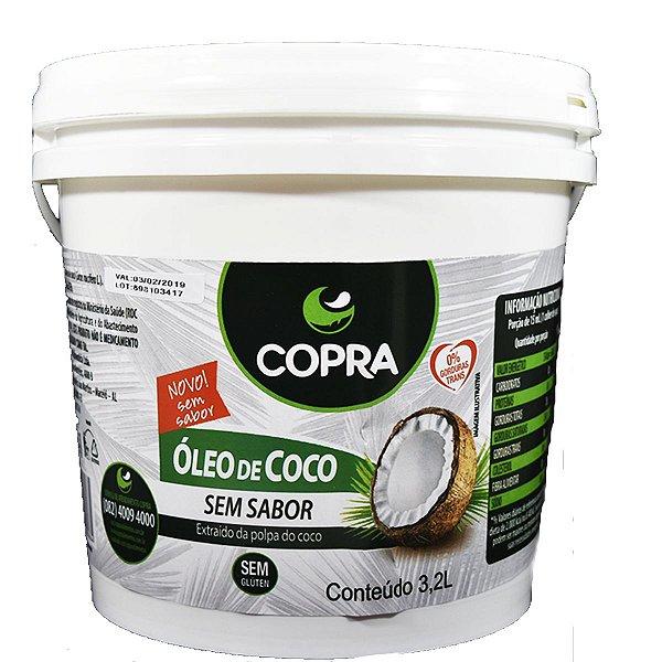 OLEO DE COCO COPRA (BALDE 3,2 L) - SEM SABOR
