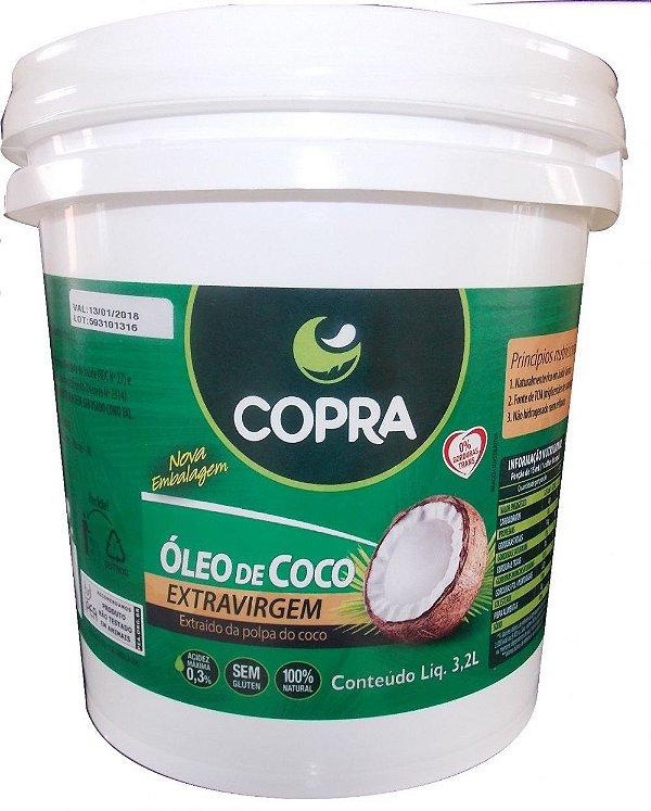 OLEO DE COCO COPRA (BALDE 3,2 L) - EXTRA VIRGEM