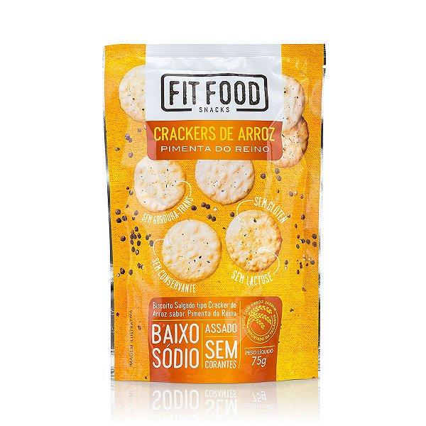 Cracker de Arroz Pimenta do Reino Fit Food 75g
