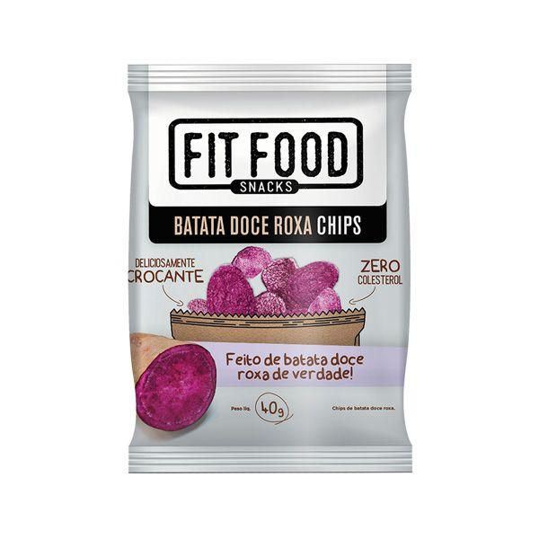 BATATA DOCE ROXA CHIPS (40G)-FIT FOOD