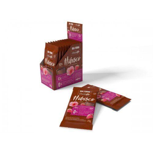 Chocolate Boa Forma Hibisco com Morango unidade de 25g - Chocolife