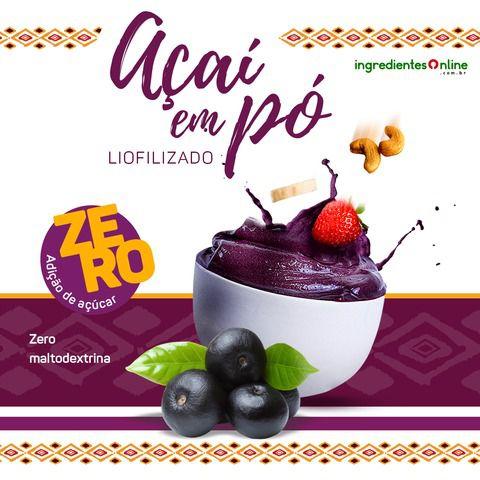 AÇAI EM PO - PURO E LIOFILIZADO -120 gramas