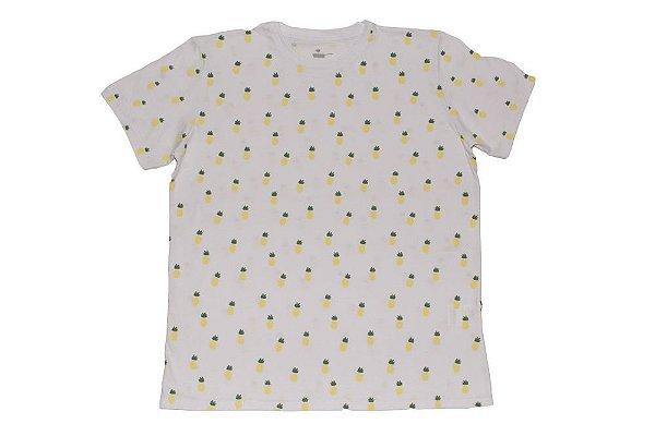 "Camiseta UNISSEX ""Abacaxi"" - PROJETO CRESCER e SEMEAR"