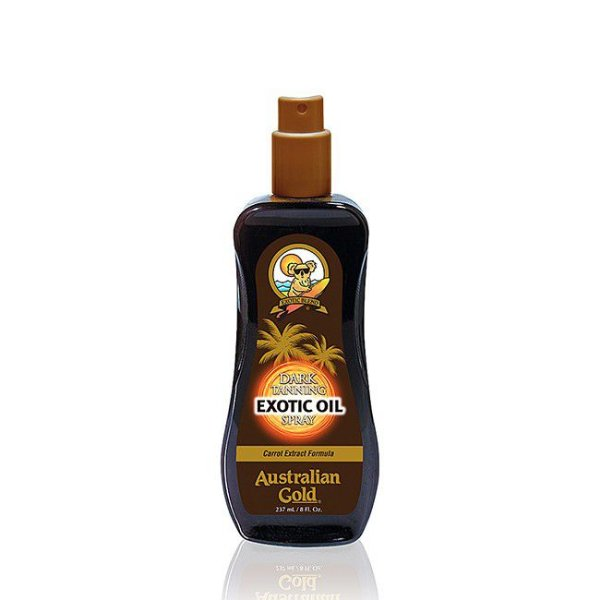 Australian Gold Dark Tanning Exotic Oil. Spray Bronzeador 237ml