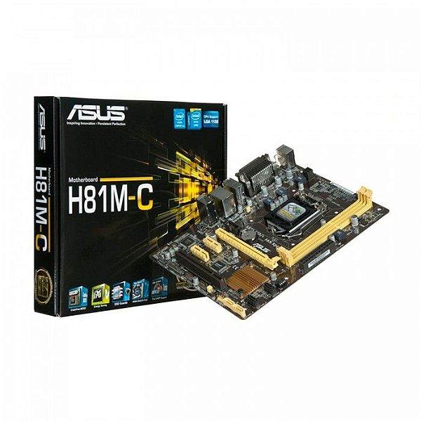 PLACA MAE 1150 H81M-C/BR ASUS