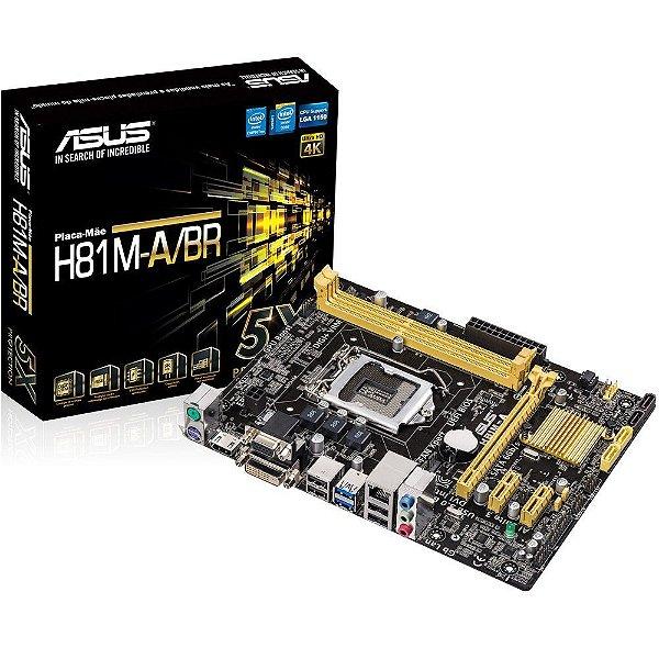 PLACA MAE 1150 MICRO ATX H81M-A/BR DDR3 ASUS