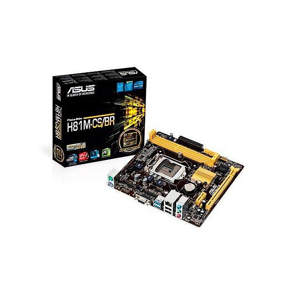 PLACA MAE 1150 MICRO ATX H81M-CS/BR DDR3 ASUS