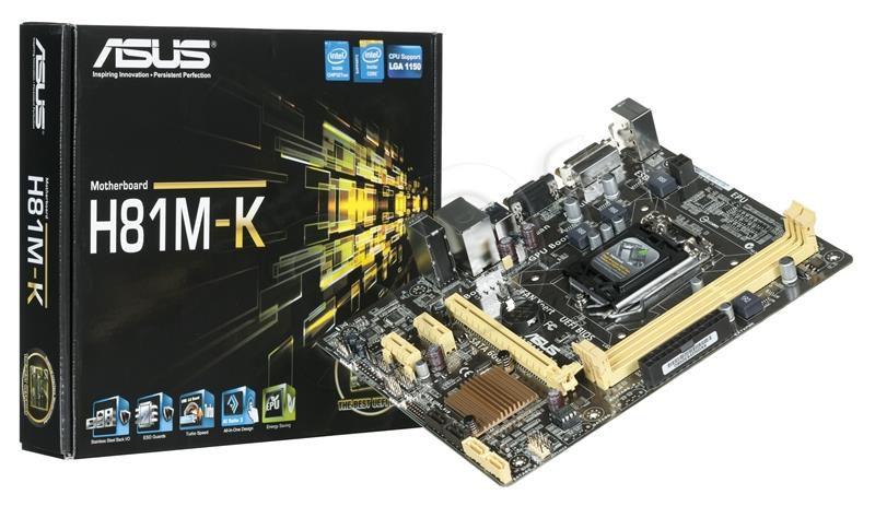 PLACA MAE 1150 MICRO ATX H81M-K DDR3 VGA. DVI. USB 3.0 ASUS IMP