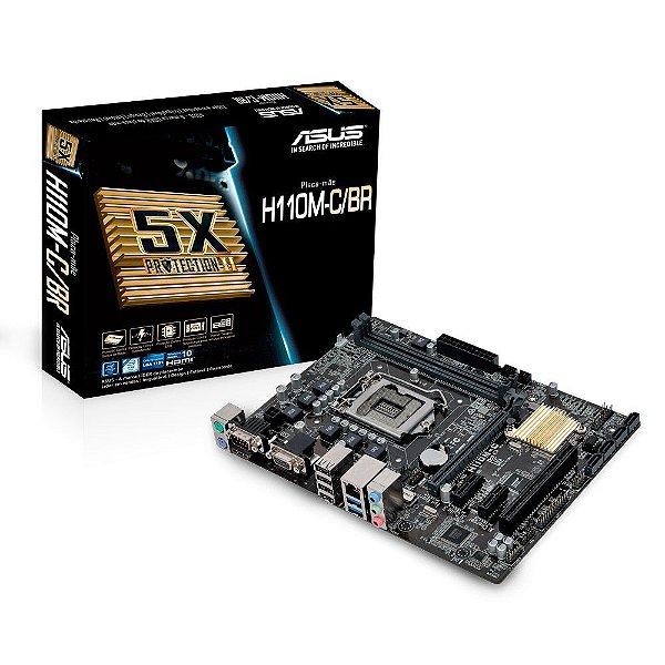 PLACA MAE 1151 H110M-C/BR DDR4 VGA/HDMI ASUS