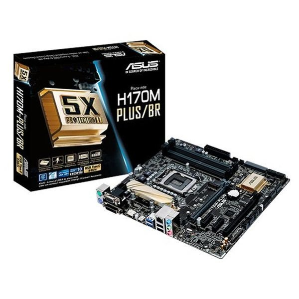 PLACA MAE 1151 MICRO ATX H170M-PLUS/BR DDR4 ASUS