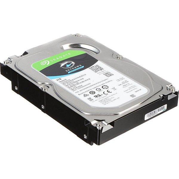 HD 2000GB SATA 3 6GB/S ST2000VX008 5400RPM 64MB SURVEILLANCE SKYHAWK SEAGATE S/ CAIXA