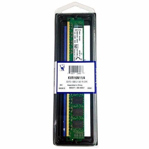 MEMORIA 4GB DDR3 1600 MHZ KVR16N11/4 16CP KINGSTON