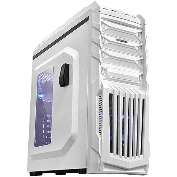 GABINETE MID-TOWER TIGERBCOAZ2FCA NEW TIGER C/LED SUPORTE PARA HEADPHONE BRANCO PCYES