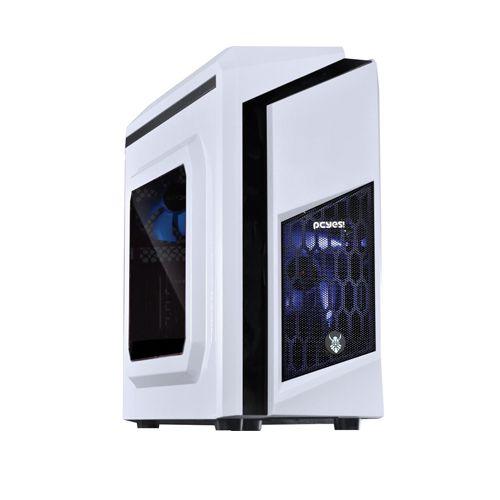 GABINETE DWABCOPT2FCA MID-TOWER S/ FONTE WHITE DWARF COM ACRILICO LED AZUL PCYES