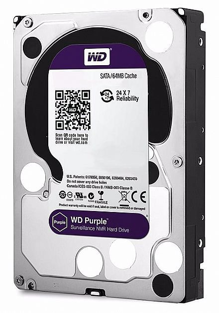 HD 1000GB SATA 3 6GB/S WD10PURZ 5400RPM PURPLE SURVEILLANCE WESTERN DIGITAL