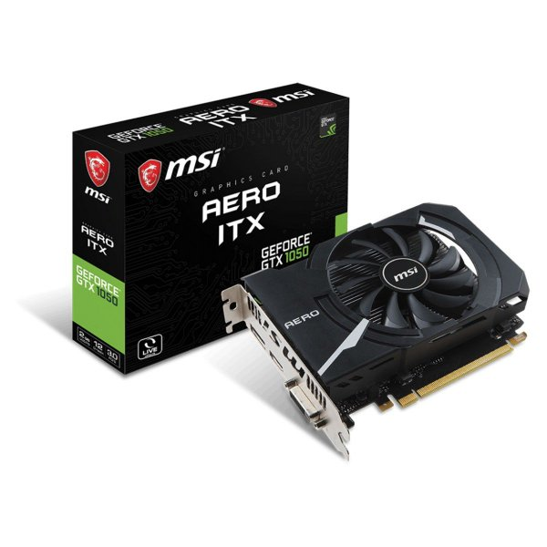 PLACA DE VIDEO 2GB PCIEXP GTX 1050 AERO ITX OC 128BITS GDDR5 MSI