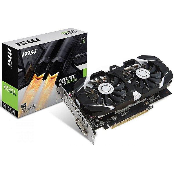 PLACA DE VIDEO 4GB PCIEXP GTX 1050 TI OC 912-V809-2679 GDDR5 GEFORCE MSI