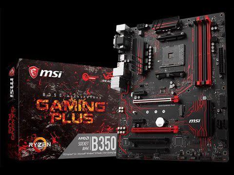 PLACA MAE AM4 ATX B350 GAMING PLUS DDR4 MSI