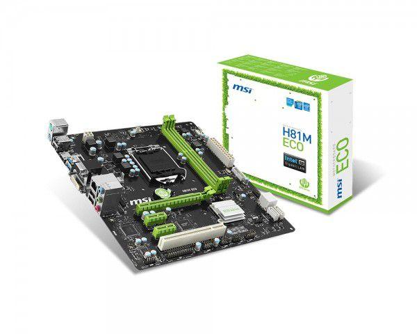 PLACA MAE 1150 MICRO ATX H81M ECO DDR3 MSI  IMPORTADO