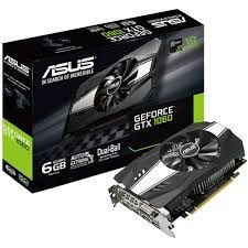 PLACA DE VIDEO 6GB PCIEXP GTX 1060 PH-GTX1060-6G 192 BITS GDDR5 NVIDIA ASUS