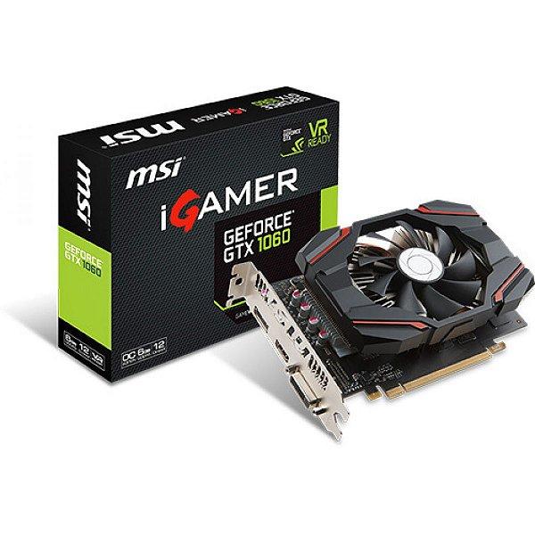PLACA DE VIDEO 6GB PCIEXP GTX 1060 912-V809-2463 192 BITS GDDR5 GEFORCE DVI/HDMI/DP MSI