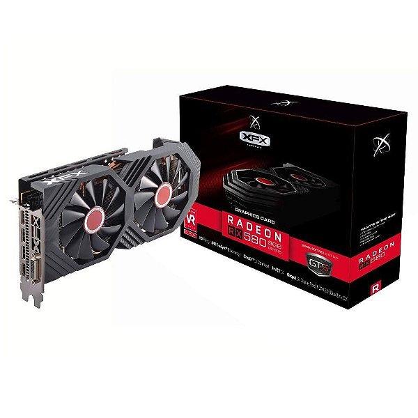 PLACA DE VIDEO 8 GB PCIEXP RX 580 RX-580P8DFD6 256BITS DDR5 RADEON XFX