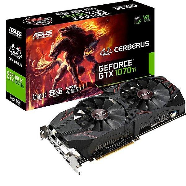 PLACA DE VIDEO ASUS GEFORCE GTX 1070 TI 8GB DDR5 256 BITS - CERBERUS GTX1070TI-A8G