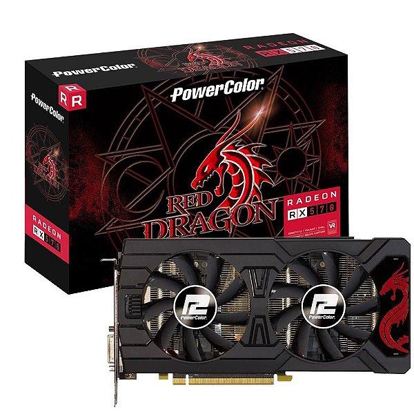 PLACA DE VÍDEO POWERCOLOR RADEON RX 570 4GB RED DEVIL