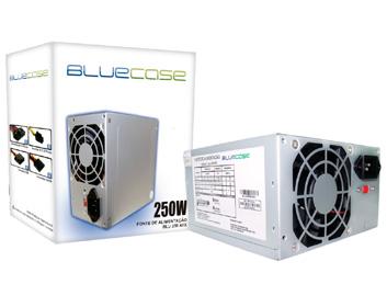 FONTE ATX 250W 20/24 PINOS BLU 250 ATX 2*SATA 1 IDE COM CABO BLUECASE