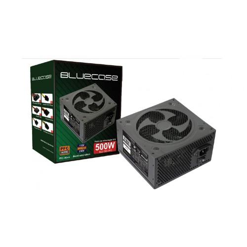 FONTE ATX 500W 20/24 PINOS BLU500PFC 3*SATA 2* IDE PFC ATVO BLUECASE