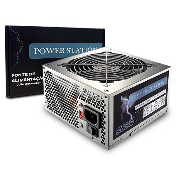FONTE ATX 500W 20/24 PINOS GBX-500 AF.B PS-500W 2*SATA 2* IDE POWER STATION