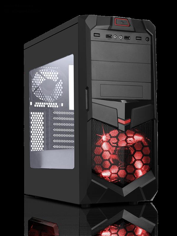 GABINETE 2 BAIAS 7005BR GAMER SEM FONTE USB 3.0 FRONTAL COM ACRILICO BRAZIL PC