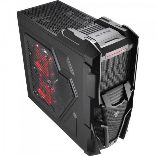 GABINETE 3 BAIAS EN57028 MECHATRON BLACK WINDOW EDITION AEROCOOL