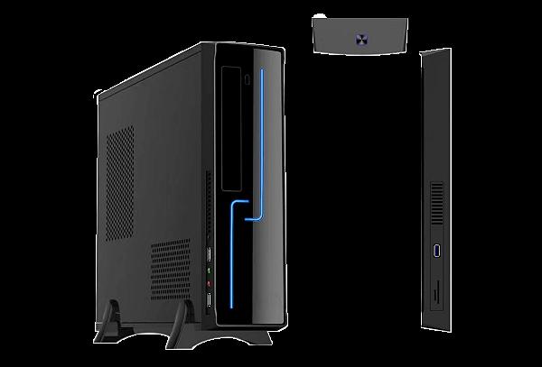 GABINETE SLIM H308 C/FONTE 200W BLACK BRAZIL PC