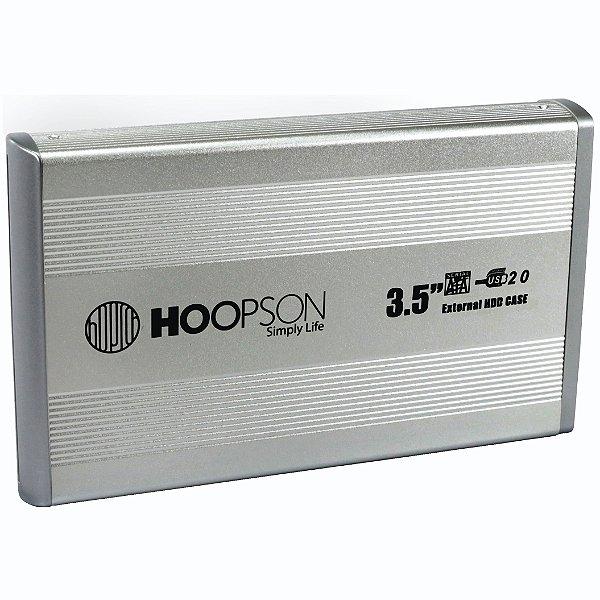 GAVETA PARA HD 3,5 CHD-004 MESA SATA USB 2.0 PRATA HOOPSON