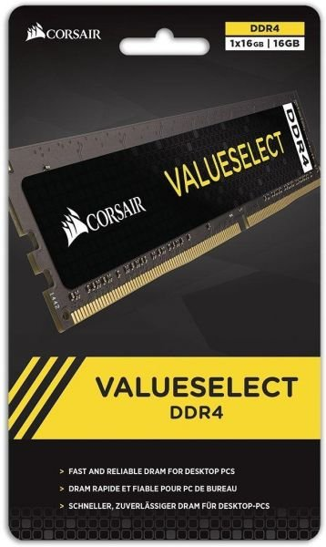 MEMORIA 16GB DDR4 2400 MHZ VALUESELECT CMV16GX4M1A2400C16 CORSAIR