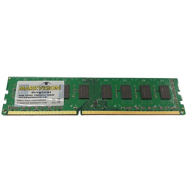 MEMORIA 4GB DDR3 1333 MHZ MVD34096MLD-13 16CP MARKVISION SEM EMBALAGEM