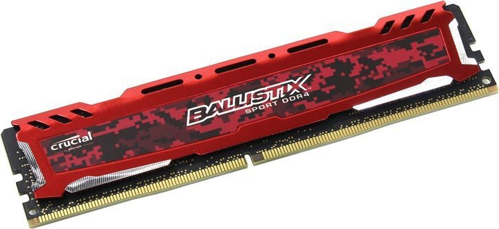 MEMORIA 8GB DDR4 2400 MHZ BALLISTIX SPORT BLS8G4D240FSEK CRUCIAL SEM EMBALAGEM