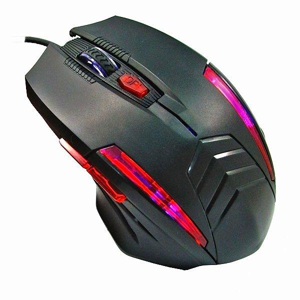 MOUSE USB MOG536 1600DPI GAMER 6 BOTÕES K-MEX