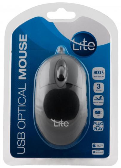 MOUSE USB OML-101 800DPI PRETO LITE