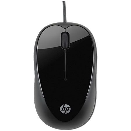 MOUSE USB X1000 1000 DPI PRETO HP