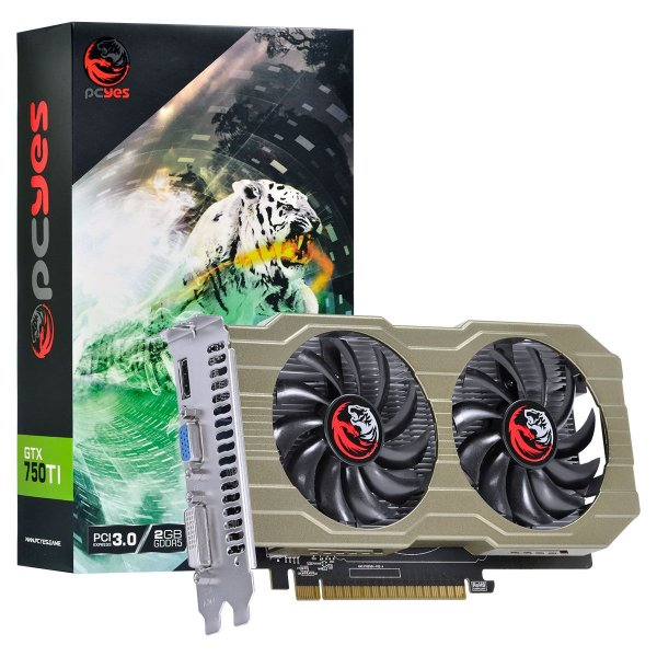 PLACA DE VIDEO 2GB PCIEXP GTX 750 TI PA750TI12802G5DF 128BITS GDDR5 GEFORCE PCYES