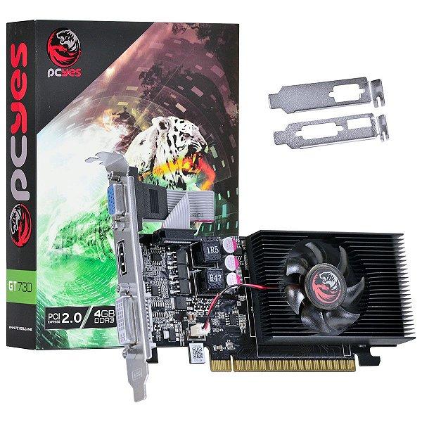 PLACA DE VIDEO 4GB PCIEXP GT 730 PW730GT12804D3LP 128BITS DDR3 GEFORCE LOW PROFILE PCYES
