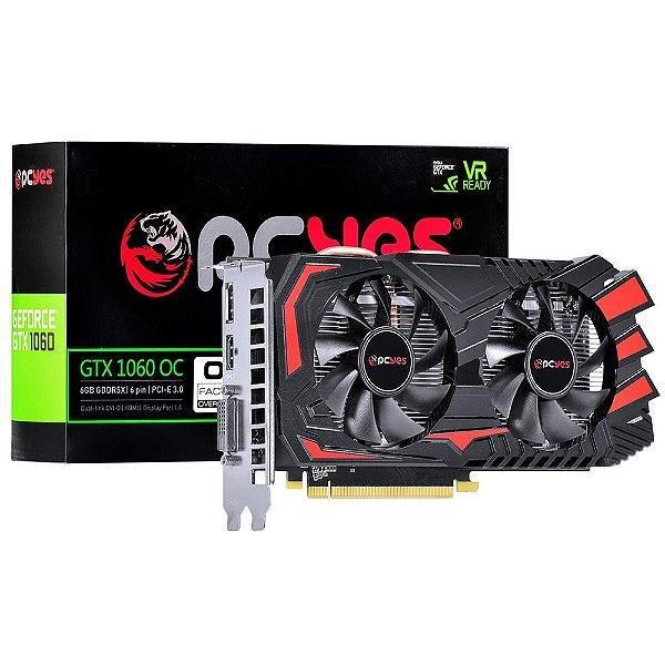 PLACA DE VIDEO 6GB PCIEXP GTX 1060 60NRJ7DSX1PY 192 BITS GDDR5X PCYES