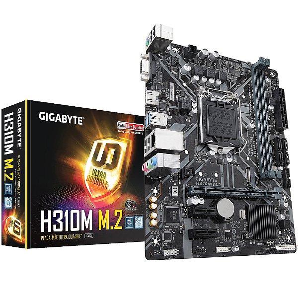 PLACA MAE 1151 MICRO ATX H310M M.2 DDR4 VGA/HDMI GIGABYTE