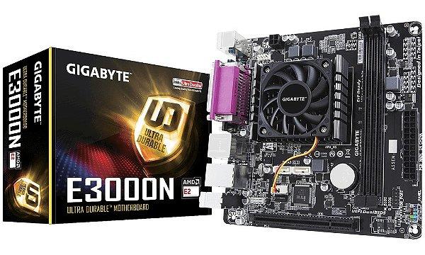 PLACA MAE COM PROCESSADOR ITX GA-E3000N DDR3 COM SERIAL PARALELA GIGABYTE